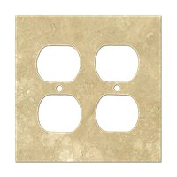 Bucak Light Walnut Double Duplex Switch Plate 5.5 x 4.5 in