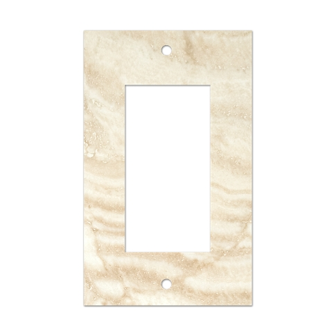 Ivory Rocker Switch Plate 2.75 x 4.5 in