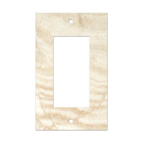 Ivory Rocker Switch Plate 2.75 x 4.5 in