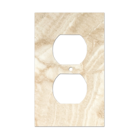 Ivory Duplex Switch Plate 2.75 x 4.5 in