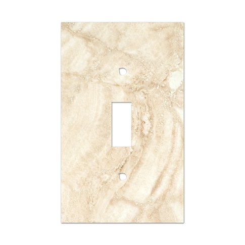 Ivory Toggle Switch Plate 2.75 x 4.5