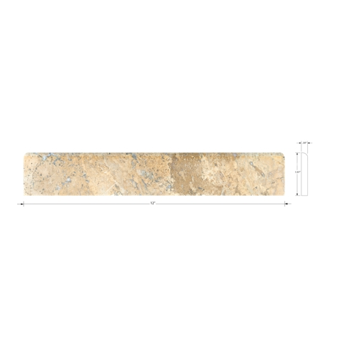 Scabos Bullnose 2 x 12 in