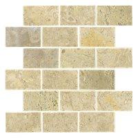 Sandlewood Honed Amalfi Travertine Mosaic Tile - 12 x 12 in.