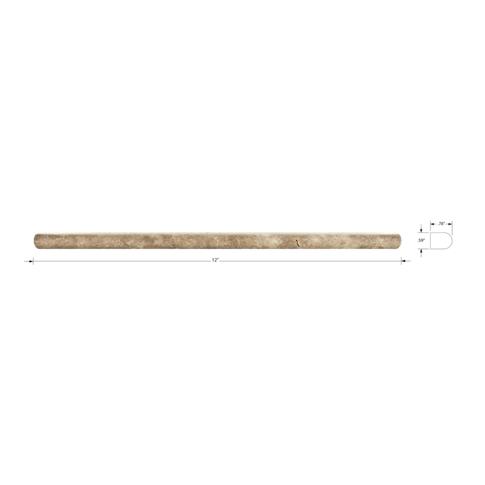Bucak Dk Walnut Durand .625 x 12 in