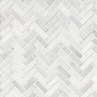 Hampton Small Herringbone Marble Mosaic Tile