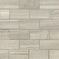 Legno Amalfi Travertine Mosaic Floor Tile - 12 x 12 in.