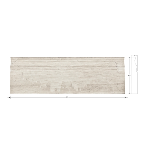 Legno Luce Skirting Travertine Floor Tile - 4.75 x 12 in.