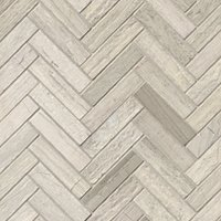 Legno Large Herringbone Travertine Mosaic Floor Tile - 11 x 12 in.