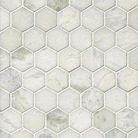 Tempesta Neve Polished Hex Marble Mosaic Tile - 2 x 2 in.
