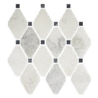 Tempesta Neve Polished Delray Marble Mosaic Tile 10 X 10