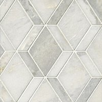 Tempesta Neve Polished Wheaton Marble Mosaic Tile - 12 x 15 in.