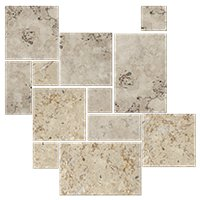 Mevlana Brush/Chiseled Sm Versailles Travertine Wall And Floor Tile