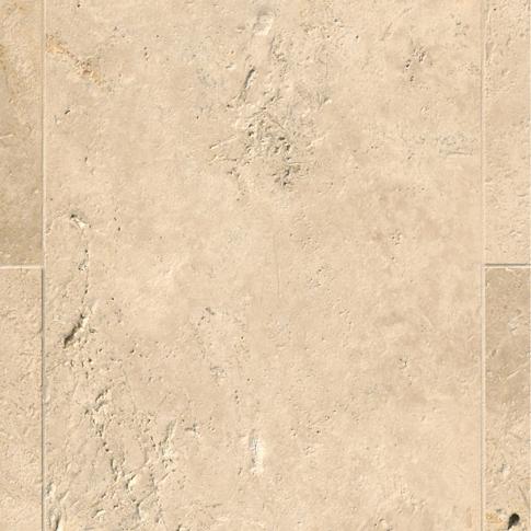 Mevlana Brush/SE Travertine Wall and Floor Tile - 16 x 24 in