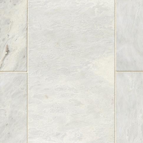 Meram Blanc Carrara Polished Marble Floor Tile - 12 x 24 in.