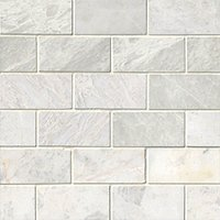 Meram Blanc Polished Amalfi Marble Mosaic Tile - 12 x 12 in.