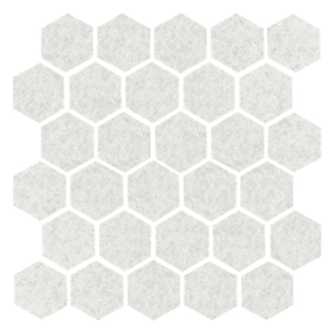 San Dona Honed Hex Marble Wall and Floor Tile - 2 in
