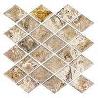 Volcano Diamond Honed Travertine Wall Tile