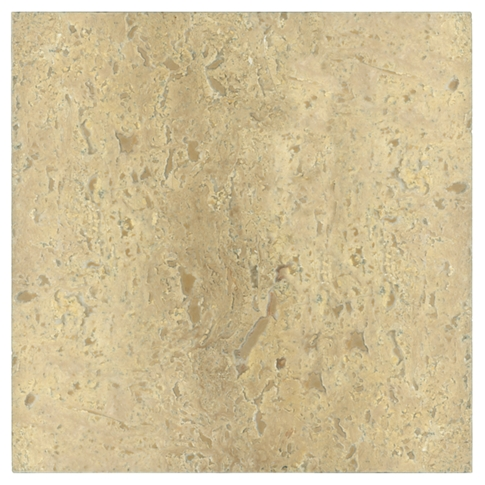 Sandlewood Honed Filled Travertine Floor Tile - 16 x 16 in.