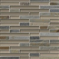 Breckenridge Stria with Glass Stone Mosaic Tile - 12 x 12 in.