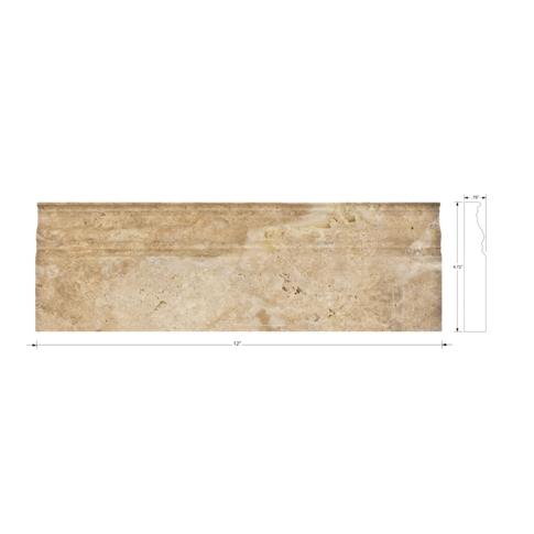 Capadocia Walnut Honed Skirting 4.75 x 12 in