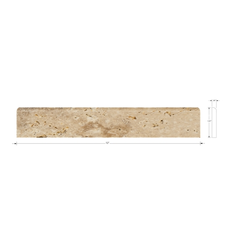 Capadocia Walnut Bullnose 2 x 12 in