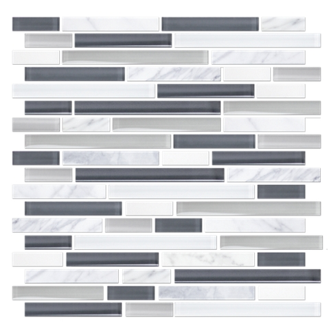 Malco Stria with Glass Stone Mosaic Tile - 12 x 12 in.