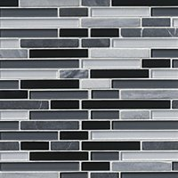 River Oaks Stria with Glass Stone Mosaic Tile - 12 x 12 in.