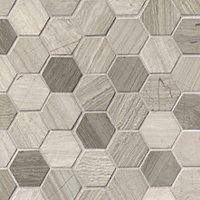 Legno Honed Hex Travertine Mosaic Floor Tile - 2 x 2 in.