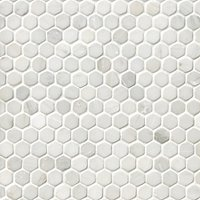 Hampton Carrara Tumbled Hex 1 x 1 in