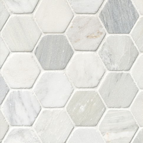 Birmingham Grey Tumbled Hex 2 X 2 In The Tile Shop