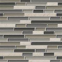 Bainbridge Stria Glass and Stone Floor and Wall Tile