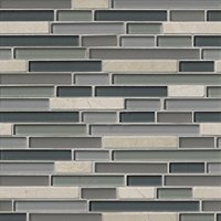 Whidbey Stria Glass and Stone Floor and Wall Tile
