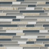 Vancouver Stria Glass and Stone Floor and Wall Tile