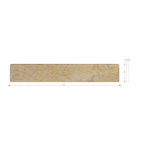 Jinshan Carmel Polished Bullnose 2 x 12 in