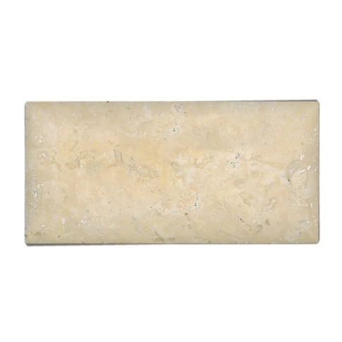 Sandlewood Monterrey Travertine Subway Tile - 3 x 6 in.