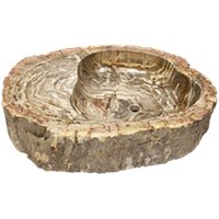 Java Petrified Wood Sink Large 22 x 29 x 6 in