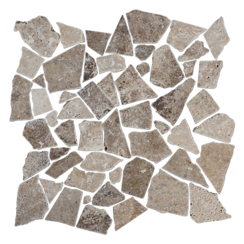 Capadocia/Cremna Tumbled Cobble 12 x 12 in