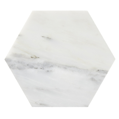 Hampton Carrara Hex Marble Mosaic Tile - 5 x 5 in.