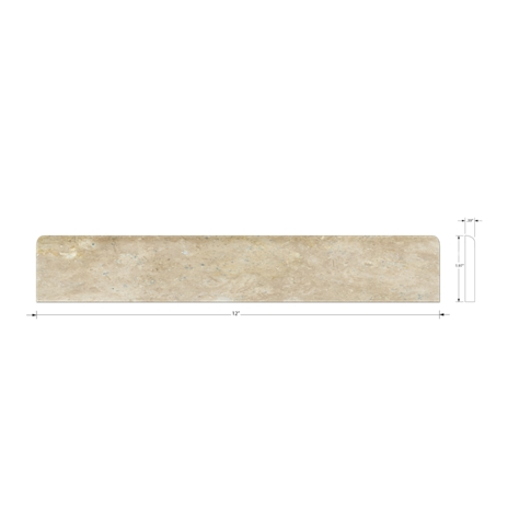 Sandlewood Honed Bullnose 2 x 12 in
