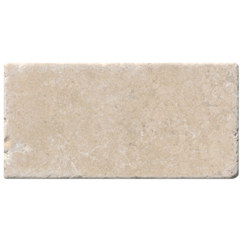 Sandlewood Tumbled Travertine Subway Tile - 3 x 6 in.
