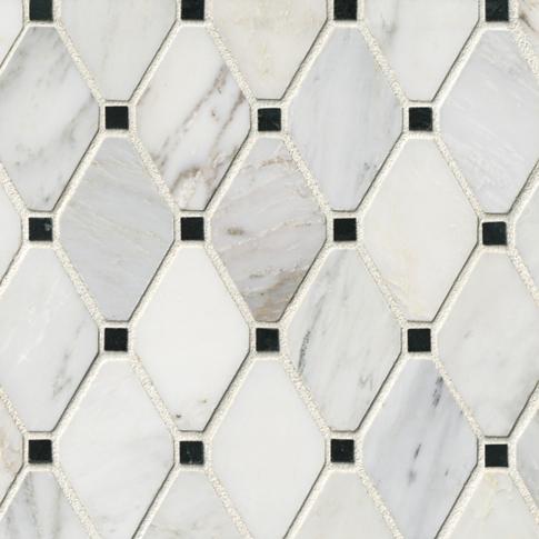 Hampton Brookfield Marble Mosaic Tile - 12 x 12 in.