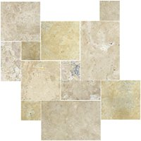 Sandlewood Brushed Filled Small Versailles Pattern 8.98 SF