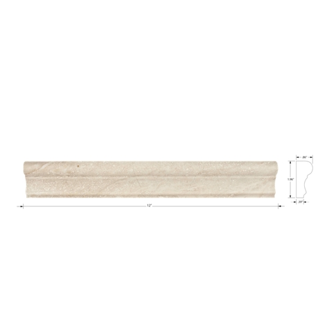 Queen Beige Polished Barnes Marble Wall Tile - 2 x 12 in.