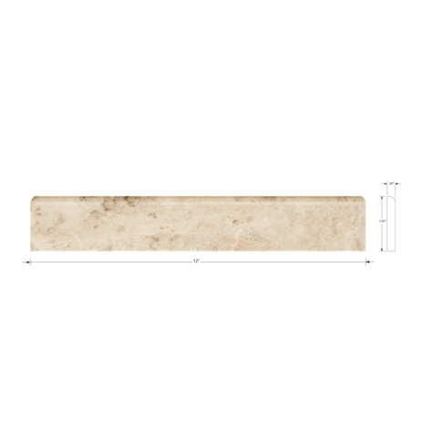 Cappuccino Polished Bullnose 2 x 12 in