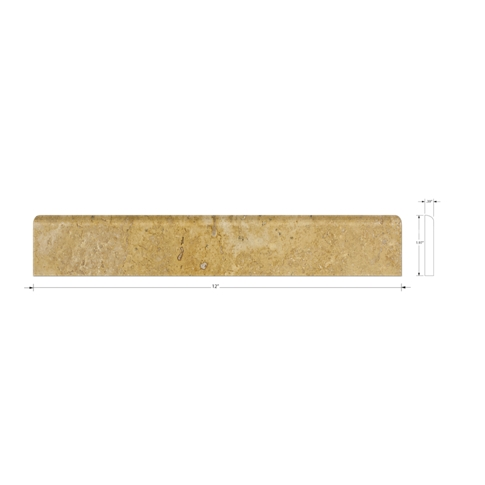 Dorado Polished Bullnose 2 x 12 in