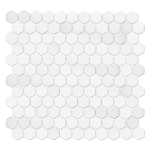 San Dona Tumbled Hex 1 x 1 in