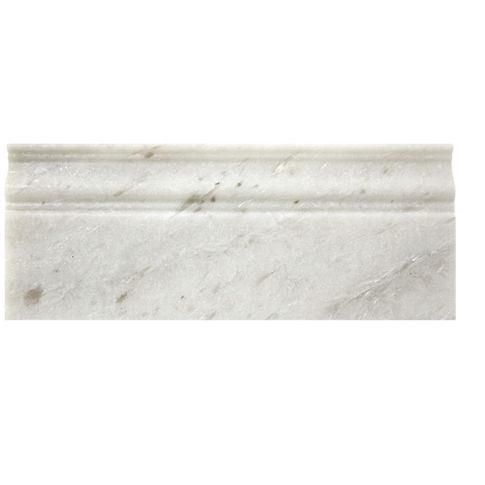 Tempesta Neve Polished Skirting Marble Floor Tile - 4.75 x 12 in.