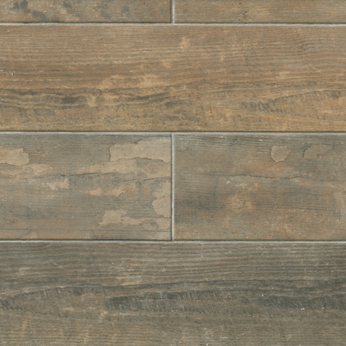 Vintage Wood Look Floor Tile - 6 x 24 in.