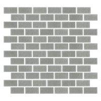 Stainless Steel Cardine Metal Mosaic Tile - 1 x 2 in.