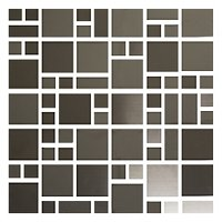 Dark Stainless Steel Vinton Metal Mosaic Tile